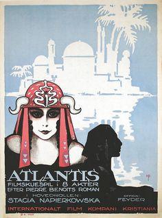 Film muet tourné à Touggourt 1921. Adaptation du roman de Pierre Benoit.  Réaliser par Jacques Feyder. Design : NIELS PEDERSEN ROHDER