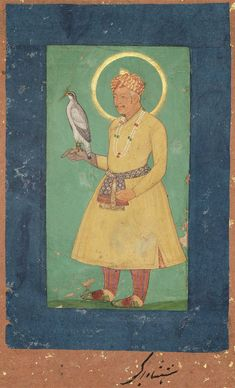 Portrait of Akbar with falcon Indian Mughal period century Mughal Miniature Paintings, Mughal Empire, World Religions, Magic Carpet, Indian Paintings, Museum Of Fine Arts, Art Boards, Emperor, History