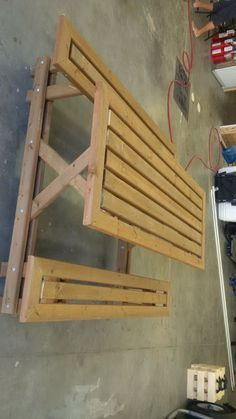 This instructable is for a large diy wooden picnic table which is easier to step in than a traditional picnic table. The picnic table in the construction pictures is one without the corners under 45 degrees like in the first picture. It is made completely of two by fours (89x38)