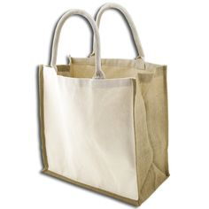 8f7b2520d1c7 Organic Canvas & Jute X-Large Tote & Grocery Bags