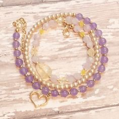 Beautiful Citrine Gemstone Wrap Bracelet