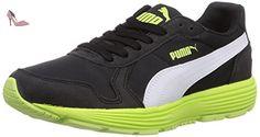Puma  Future ST Runner Jr, Sneakers basses mixte enfant - Noir - Schwarz (black-white-sharp green 04), Taille 38 EU - Chaussures puma (*Partner-Link)