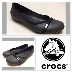 Crocs black ballet flats size 9 Black crocs ballet flats with silver logo detail on toes. Very gently worn and EUC size crocs Shoes Flats & Loafers Women's Crocs, Crocs Shoes, Loafer Flats, Loafers, Silver Logo, Black Ballet Flats, Fashion Tips, Fashion Design, Fashion Trends
