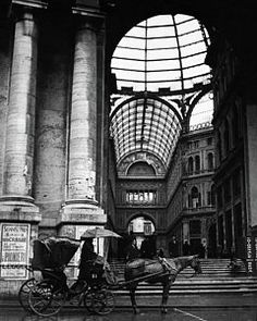 Travel Photograph - A Horse And Cart By The Galleria Umberto by Robert Randall