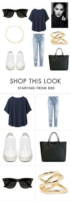 """""""HOMEWRECKER"""" by laura-melissa-cortes on Polyvore featuring moda, Uniqlo, Dsquared2, Off-White, Givenchy, Ray-Ban, Jennifer Fisher, Jennifer Zeuner, women's clothing y women"""
