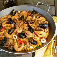 Seafood Paella. Love paella. Not sure when I will make it but this recipe looks so good. nh