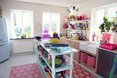 fabulously colorful kitchen - happy!