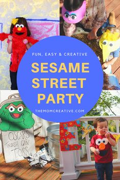 Sesame Street Party featuring Sesame Street themed games, Sesame Street foods, Sesame Street decorations and more. #kidsparty #kidsbirthday #birthday