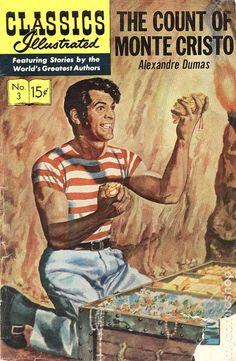 Classics Illustrated 003 The Count of Monte Cristo (1946) comic books