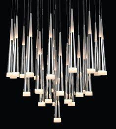 Azzardo DEKORACYJNY Żyrandol LAMPA wisząca DO salonu BRINA 31 LED LP9003-31 sople Chrom biały