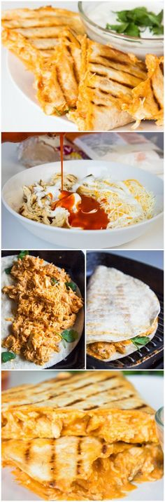 Lightened up Buffalo Chicken Quesadillas ~ They are very simple and easy to prepare. The whole family will love quesadillas. They are incredibly fantastic! You can add a lot of cheese and dip them into sour cream