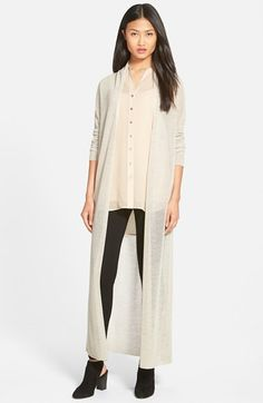 Eileen Fisher Wool Mesh Long Cardigan available at #Nordstrom
