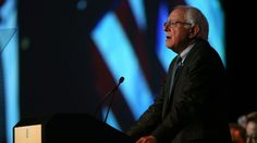 MINNEAPOLIS, MN - AUGUST 28:  Democratic Presidential candidate  U.S. Sen. Bernie Sanders (I-VT)  speaks at the Democratic National Committee summer meeting on August 28, 2015 in Minneapolis, Minnesota.  Most of the Democratic Presidential candidates including Sanders , Hillary Clinton, Martin O'Malley and Lincoln Chafee are attending at the event. (Photo by Adam Bettcher/Getty Images)