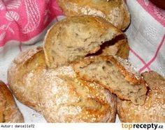 Křupavé dalamánky za kačku - My site Bread Recipes, Cooking Recipes, Czech Recipes, Good Food, Yummy Food, Bread Rolls, Bread Baking, No Bake Cake, Baked Goods
