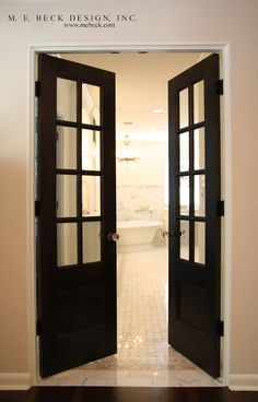 Black French Doors Live Beautifully: 1920's Renovation | The Master Suite