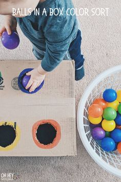 Baby Learning Activities, Activities For 5 Year Olds, Nursery Activities, Sensory Activities Toddlers, Easter Activities, Montessori Activities, Color Activities, Indoor Activities, Infant Activities