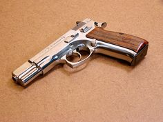 CZ 75 in Polished Stainless Steel