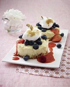 Variation vom Cheesecake mit frischen Beeren Rezept