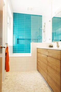 Modern Bathroom small bathroom Design Ideas, Pictures, Remodel and Decor Simple Bathroom, Modern Bathroom Design, Bath Design, Bathroom Interior, Bathroom Ideas, Neutral Bathroom, Bathroom Small, Boho Bathroom, Bad Inspiration