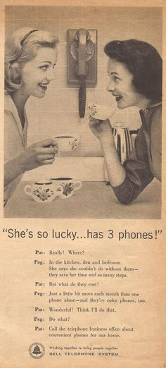 Bell Telephone ad from Household magazine, August 1957