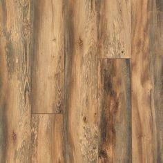 Pergo Portfolio 7.48-in W x 3.93-ft L Harvest Pine Embossed Wood Plank Laminate Flooring