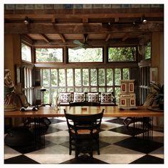 Bring's studio, Bentota Sri Lanka – About Hobby Sports Sri Lankan Architecture, Colonial Architecture, Architecture Design, Modern Tropical, Tropical Houses, Beautiful Interiors, Beautiful Homes, Cabana, Floor Design