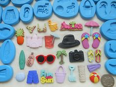 Sugarcraft/fimo #mould: #beach holiday camera bikini palm tree #surfing sunglasse,  View more on the LINK: http://www.zeppy.io/product/gb/2/191216981762/