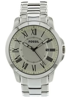 Fossil Men's Grant White Dial Stainless Steel - Watch FS4734,    #Fossil,    #FS4734,    #WatchesCasualQuartz