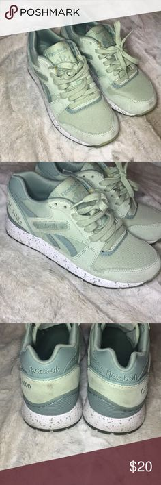 2548f013986f REEBOK GL 3000 MINT GREEN REEBOK GL 3000 WITH SPECKLED WHITE AND GREEN  SOLE. WORN WITH A FEW MARKS BUT STILL IN GOOD CONDITION Reebok Shoes  Sneakers