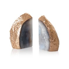 A bit glam, a bit modern; these Agate Stone Book Ends will add decadent appeal to your book collection
