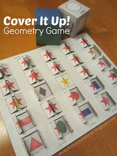 Relentlessly Fun, Deceptively Educational: Cover it Up {5-in-a-Row Geometry Game}