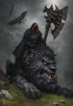Wolf Guard Battle Leader, Jaime Martinez on ArtStation at https://www.artstation.com/artwork/wolf-guard-battle-leader