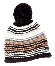 Look at this Neutral Finish Lines Pom-Pom Beanie on #zulily today!