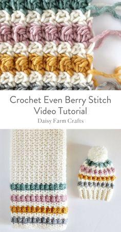 Crochet Even Berry Stitch Video Tutorial