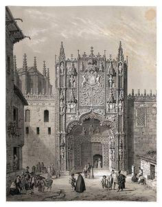 Portico del colegio de San Gregorio (Valladolid) España artística y monumental.Tomo II (1842-1850) Genaro Pérez de Villaamil http://bibliotecadigital.jcyl.es/i18n/consulta/registro.cmd?id=11442