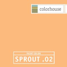 Colorhouse SPROUT .02: Like the sweetness of summer melon. A happy hue for your little person - boy or girl.