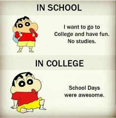 Miss my school life quotes and this is true miss school days and fun me and Exams Funny, Funny School Jokes, Crazy Funny Memes, School Memes, Funny Facts, Missing School Days Quotes, School Life Quotes, My School Life, Funny Qoutes