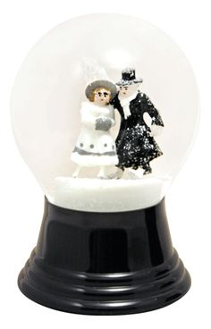 Bride and Groom Skating snowglobe  from snowdomes.com