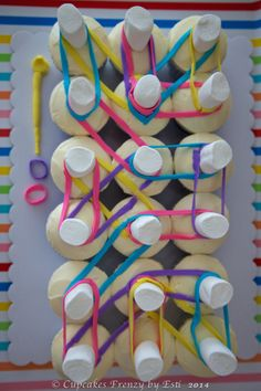 Rainbow Loom Cupcake