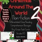 Christmas Around The World Reading Comprehension Task Cards 2 {France, Sweden, Mexico, Lebanon, Brazil & China}: Take a trip around the world reading all about Christmas! This pack would make a good addition to your unit during November/December.    Check out Christmas Around the World 1 {America, Canada, Italy, Germany, Australia, & England} for part 1 of Christmas Around the World Reading Comprehension Task Cards!