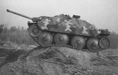 A captured Hetzer that was trial tested by the Allies to get Intel as to it mobility.