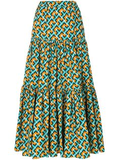 Check out La Doublej with over 1 items in stock. Shop La Doublej tiered peasant skirt today with fast Australia delivery and free returns. African Maxi Dresses, Latest African Fashion Dresses, African Print Fashion, African Attire, African Wear, Latest Ankara Dresses, Ankara Dress Styles, Ankara Rock, Ankara Stil