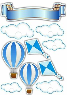 Cavalcanti's media content and analytics Air Ballon, Hot Air Balloon, Cute Baby Shower Ideas, Baby Boy Shower, Baby Shower Balloons, Birthday Balloons, Baby Decor, Baby Shower Decorations, Dibujos Baby Shower