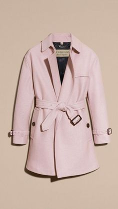 Wool Wrap Trench Coat by Burberry