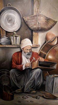 Painting People, Artist Painting, Aluminum Foil Art, Arabian Art, Islamic Paintings, Old Egypt, Middle Eastern Art, Turkish Art, Amazing Paintings