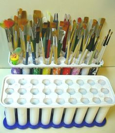 70 trendy craft room storage paint art studios - Image 19 of 24 Craft Room Storage, Art Supplies Storage, Art Storage, Craft Organization, Craft Supplies, Craft Rooms, Storage Ideas, Storage Cubes, Organizing Ideas