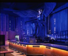 Bar at RA Nightclub at the Luxor Restaurant Design, Restaurant Bar, Underground Bar, Buildings Artwork, Nightclub Design, Public Space Design, Club Lighting, Bar Interior Design, Art Nouveau