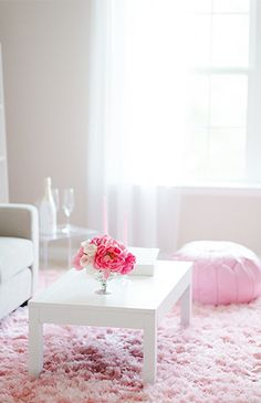 Living Room With Pink Rug And Pink Couch Diy Living Room Decor, Interior  Design Living