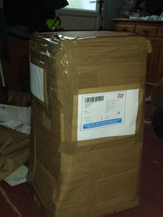 Box all wrapped in bubble wrap and cardboard ready for it's journey.