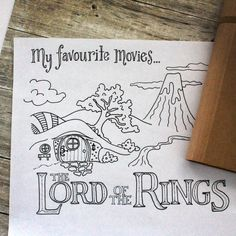 Q&A with Tombow Brand Ambassador Tracy McLennon // Lord of the Rings handlettering Bullet Journal And Diary, Bullet Journal Ideas Pages, Hobbit Art, The Hobbit, Coloring Books, Coloring Pages, Ring Sketch, Art Journal Inspiration, Lord Of The Rings